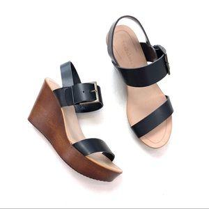 Zara Trafaluc Wooden Wedge Sandals